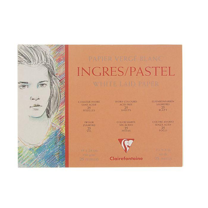 Альбом для графики и пастели Clairefontaine Pastel Ingres, В5 180 x 240мм, 25 листов, 130 г/м² , на гребне