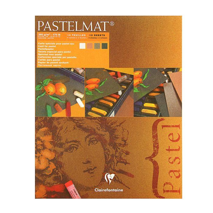 Альбом для пастели В4 240*300 мм Clairefontaine Pastelmat 12 листов склейка 360 г/м2, 4цв 96007С