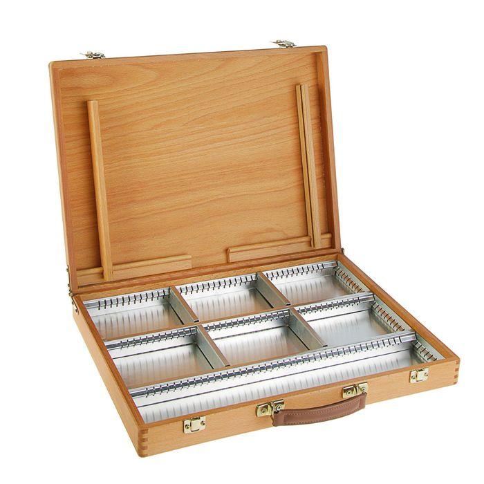 Этюдный ящик 350 х 450 х 30 мм Mabef для красок, бук