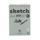 Блокнот для рисунков А4 90 г/м2 Clairefontaine Sketch 100 листов, на гребне, с перфорацией, кремовый 96644С