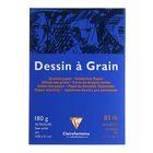 Блокнот для рисунков А5 180 г/м2 Clairefontaine Dessin Grain 30 листов, склейка, бумага зернистая 96626С