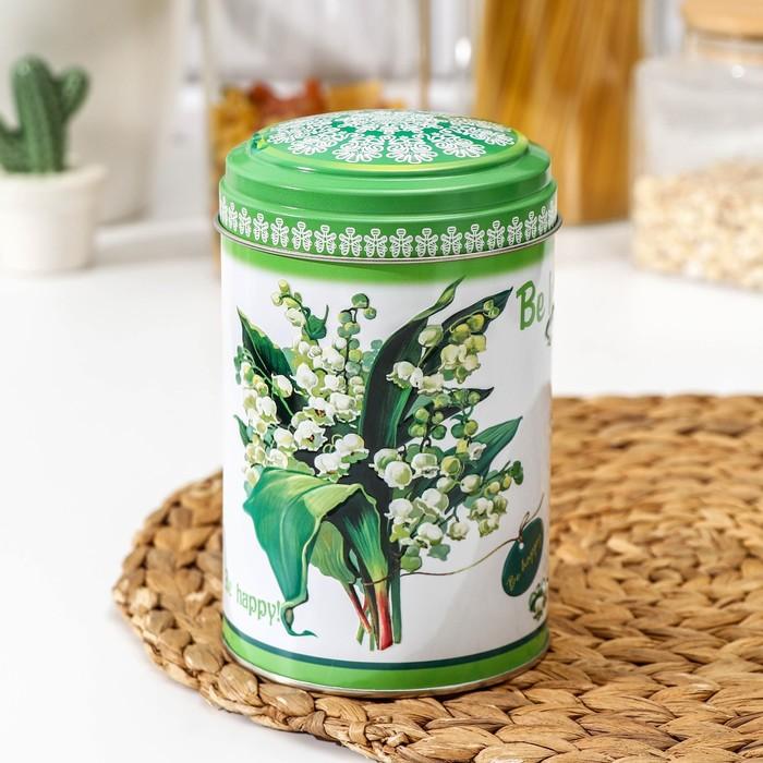 Банка для сыпучих продуктов «Садовые цветы», 1,1 л, d=9,9 см, МИКС - фото 698701