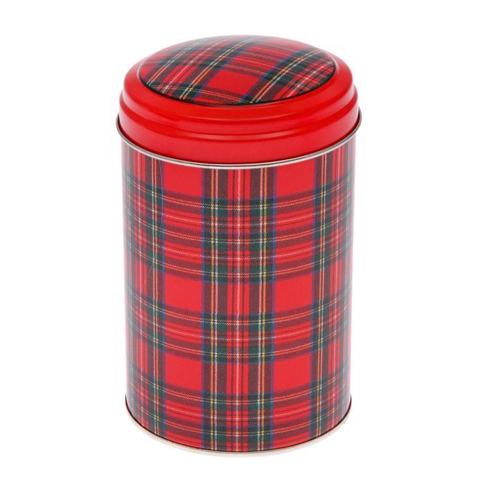 """Банка для сыпучих продуктов 1,1 л """"Шотландка"""", круглая"""