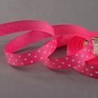 """Лента репсовая """"Сердечки"""", 15мм, 22±1м, цвет розовый"""