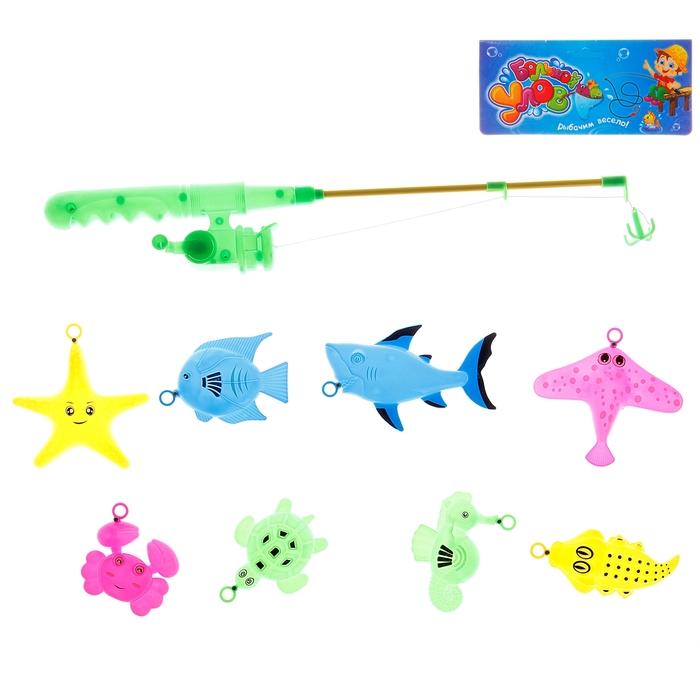 """Рыбалка """"Большой улов"""": удочка, 8 рыбок"""