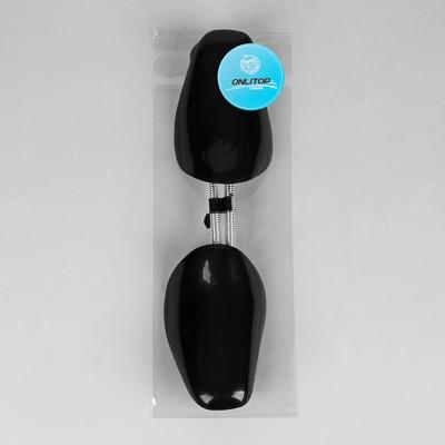 Колодки для сохранения формы обуви с пружиной, 39-45р-р, 2шт, цвет чёрный