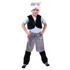 """Карнавальный костюм """"Котёнок"""", шапка, меховой жилет, гетры, шорты атлас, р-р 64, рост 122-128 см"""