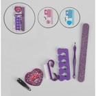 Набор для маникюра и педикюра, 6 предметов, цвет МИКС