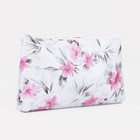 Cosmetic bag simple division with zip, colour white
