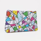 "Cosmetic bag ""Abstraction"" zipper, 1 division, multi-colored"