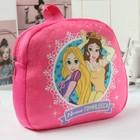 """Детский рюкзак плюшевый """"Наша Принцесса"""", Принцессы, 24.5 х 24.5 см"""