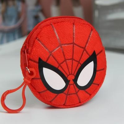 """Кошелек детский плюшевый """"Супергерой"""", Человек-паук, 9 х 9 см"""