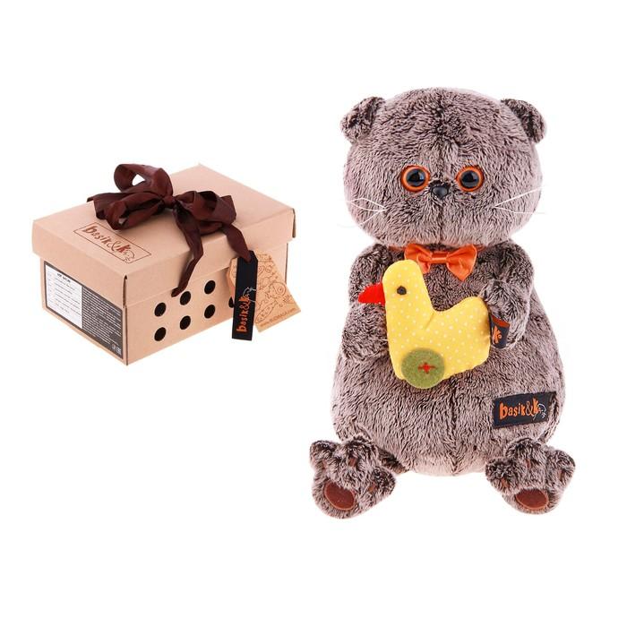 Мягкая игрушка «Басик» с уточкой, 22 см
