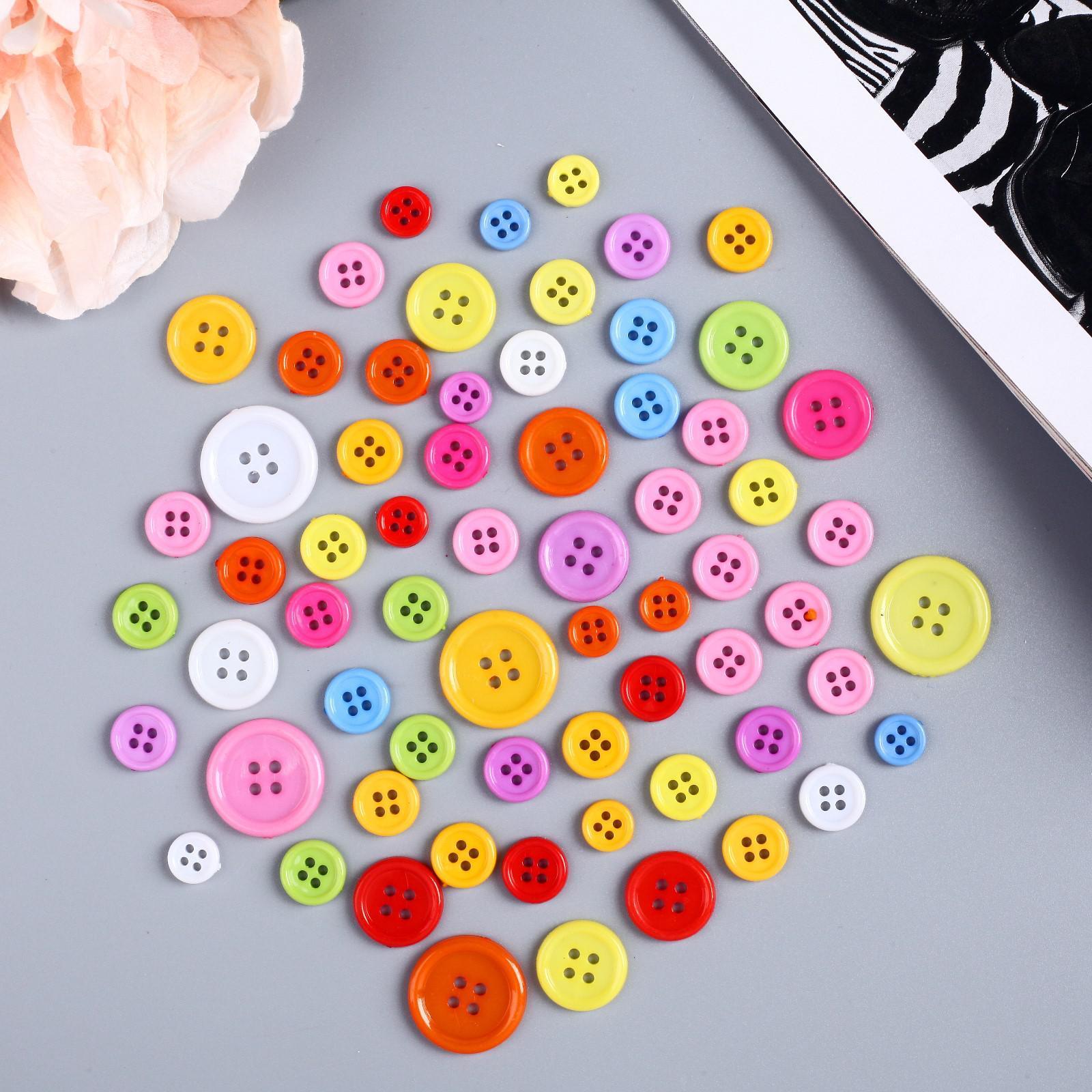 4e8f15e9b15d3 Набор пуговиц для декора цветные (279958) - Купить по цене от 49.00 ...