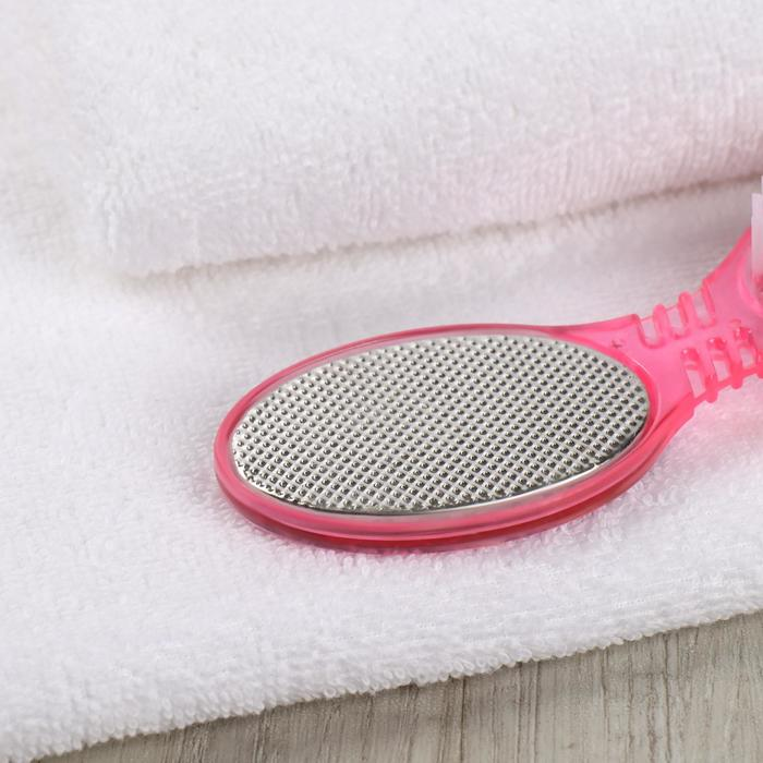 Тёрка для ног, четырёхсторонняя, наждачная, металлическая, цвет МИКС
