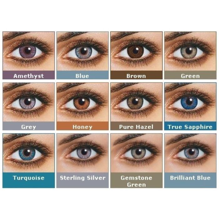 Цветные контактные линзы FreshLook ColorBlends True Sapphire, -8/8,6 в наборе 2шт