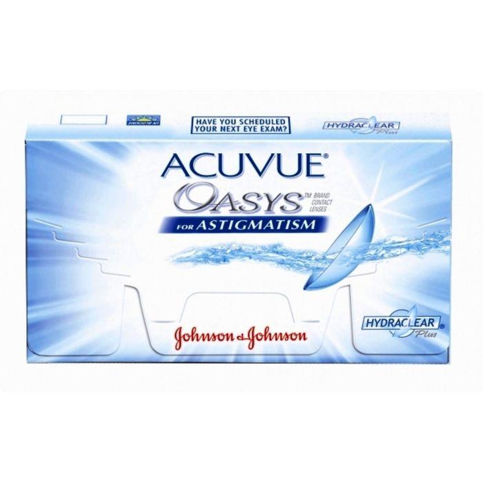 Контактные линзы Acuvue Oasys for Astigmatism, +1.25/8,6/-2.75/80, в наборе 6шт
