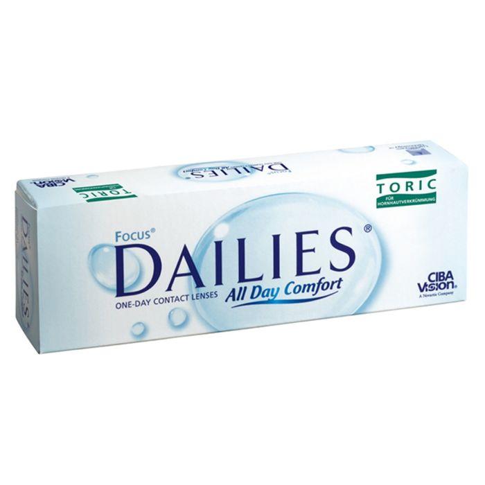 Контактные линзы Focus Dailies Toric, -4.25/8,6/-0.75/180, в наборе 30шт