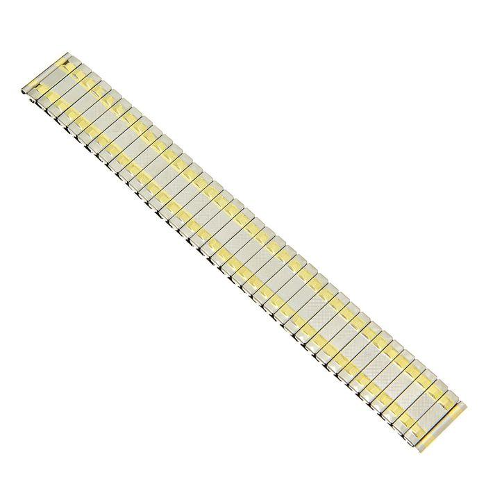 Ремешок для часов 18 мм, металл, звенья золото, 15.5 см