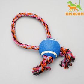 Игрушка канатная с мячом и регулируемым канатом, до 100 г, микс цветов