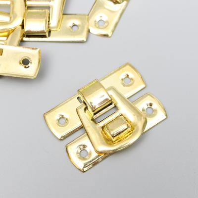 "Замок металл для шкатулки ""Гладкость"" золото 2,9х2 см"