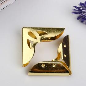 Уголок металл 'Античный' золото 3,1х3,1х0,7 см Ош