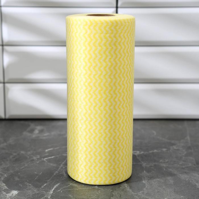 Рулон салфеток универсальных 25×30 см, вискоза, 100 шт, цвет МИКС - фото 4643806