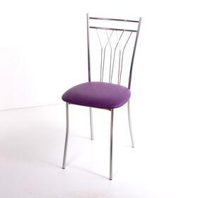 Стул на металлокаркасе Премьер СТ хром люкс/капитон фиолетовый