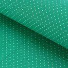 """Ткань для пэчворка """"Мелкий горошек"""", 48х50см, 120г/кв.м, цвет травяной"""