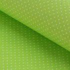 """Ткань для пэчворка """"Мелкий горошек"""", 48х50см, 120г/кв.м, цвет салатовый"""
