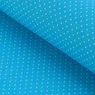 """Ткань для пэчворка """"Мелкий горошек"""", 48х50см, 120г/кв.м, цвет синий"""