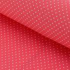 """Ткань для пэчворка """"Мелкий горошек"""", 48х50см, 120г/кв.м, цвет красный"""