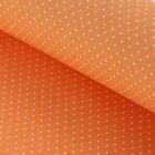 """Ткань для пэчворка """"Мелкий горошек"""", 48х50см, 120г/кв.м, цвет апельсиновый"""