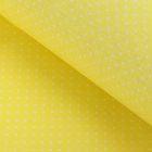 """Ткань для пэчворка """"Мелкий горошек"""", 48х50см, 120г/кв.м, цвет жёлтый"""