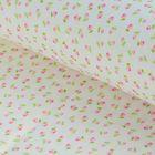 "Ткань для пэчворка ""Тени роз"", 48х50см, 120г/кв.м, цвет белый/розовый/зелёный"