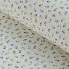 """Ткань для пэчворка """"Тени роз"""", 48х50см, 120г/кв.м, цвет белый/сиреневый/зелёный"""