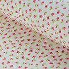 """Ткань для пэчворка """"Тени роз"""", 48х50см, 120г/кв.м, цвет белый/красный/зелёный"""