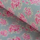 """Ткань для пэчворка """"Розы клетка и листочки"""", 48х50см, 120г/кв.м, № 4"""