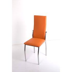 Стул на металлокаркасе Про СТ хром люкс/оранжевый
