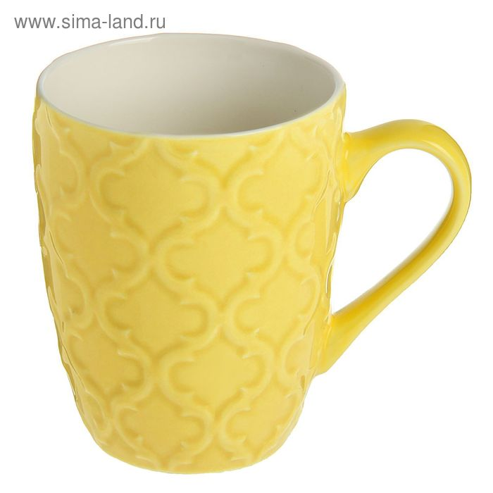 "Кружка 320 мл ""Орнамент"", цвет желтый"