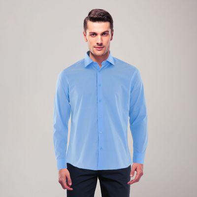 Сорочка приталенная мужская, р. 50, об. шеи 41, рост 170-176, цвет голубой RDF0305_FAV