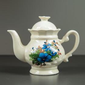 Чайник заварочный 'Ромашка', 0,5 л, голубые цветы Ош