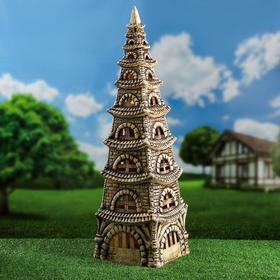 """Садовый светильник """"Пагода"""", шамот, 80 см, без элемента питания"""