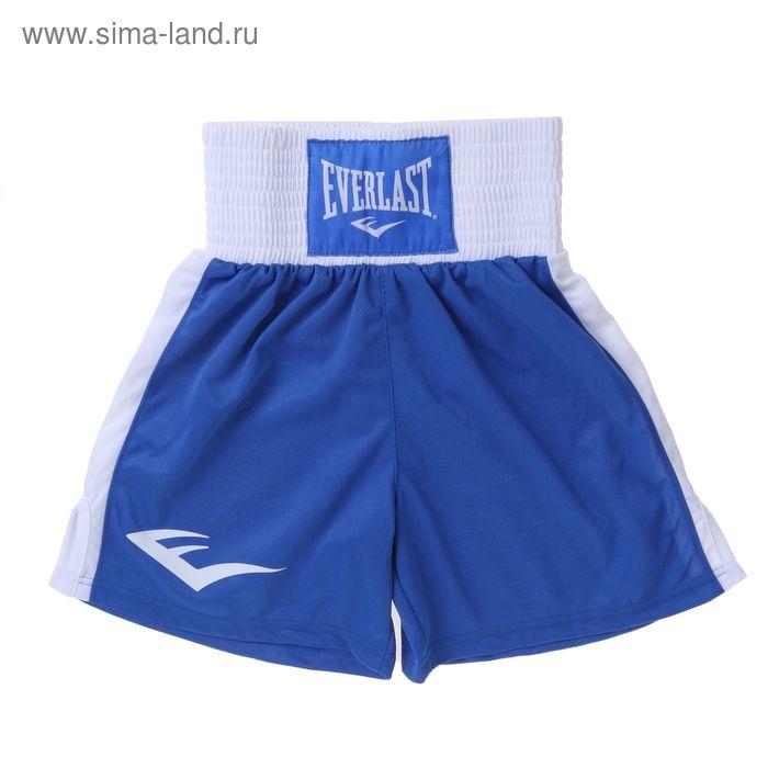 Трусы боксерские Elite 140 син/бел.