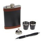 """Подарочный набор 5 в 1 """"Клэйв"""": фляжка 270 мл + ручка, 2 стопки, воронка"""