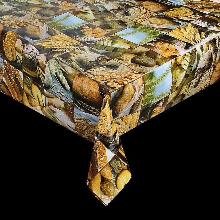 Клеенка столовая на нетканой основе, ширина 137 см, толщина 0,07 мм, рулон 20 м