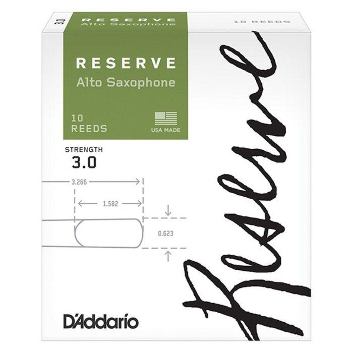 Трости для саксофона альт Rico DJR1030 Reserve размер 3.0, 10шт