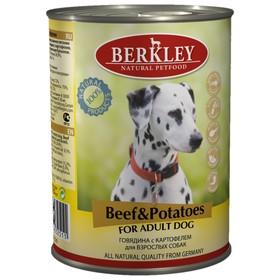 Влажный корм Berkley для собак, говядина с картофелем, ж/б 400 г