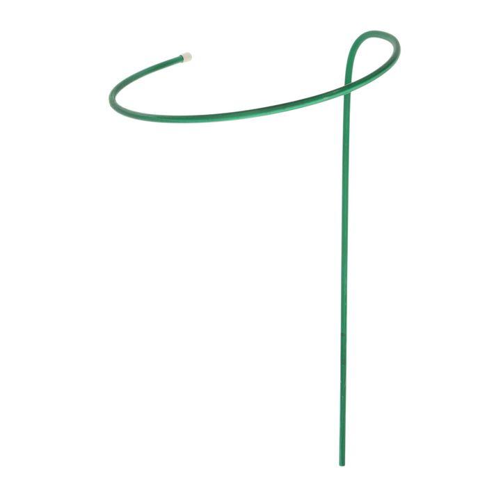 Кустодержатель, d = 40 см, h = 110 см, ножка d = 1 см, металл, зелёный