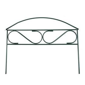 Ограждение декоративное, 37 × 325 см, 5 секций, металл, зелёное, «Узкий мини», Greengo